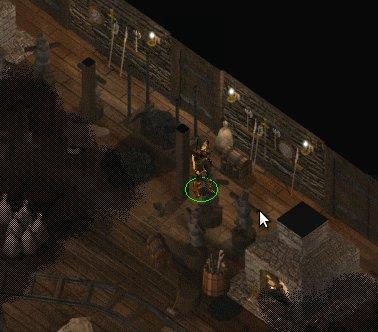 A nocą Imoen odwiedziła miejscowego kowala by pożyczyć świecący miecz :)